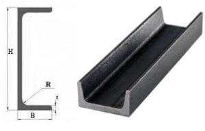 Thông số kỹ thuật thép hình U Thép hình U chịu được sự chống vặn xoắn ở thân tốt.